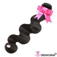 Wholesale 1pcs Malaysian Weave - Brazilian Body Wave Human Hair Bundles 1pcs lot Brazilian Hair Weave Bundles Remy Hair Extension Natural Black 8-30 Inch
