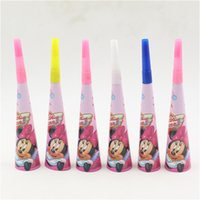 Wholesale minnie mouse Cartoon st Birthday Decoration Party Favors Supplies Whistle Blowouts for Kids Boys new trumpet blow out