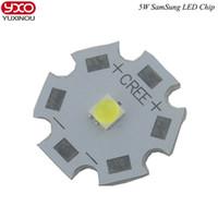 Wholesale high power led chip 5w - Wholesale- 1pcs SamSung CREE LED1- 5W LED Neutral White 4500-5000K Warm White 3000-3200K high power LED CHIP with PCB For Flash Light