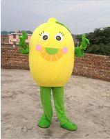 Wholesale Lemon Fancy Dress - free shipping customized lemon Mascot Costume Character Fancy Dress Adult Outfit
