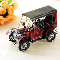 Wholesale New Ford Models - Car Model Home Accents Jewelry Cartoon Design Vintage Art Iron Ford Metal Crafts Red Color Desktop Bookcase