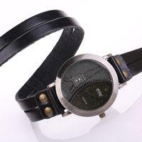 pulseras de cuero reloj eiffel al por mayor-Reloj de pulsera de cuero de la vendimia Señora Torre Eiffel Reloj de Cuarzo Reloj de pulsera Reloj de Las Mujeres Montre Femme Relogio Feminino