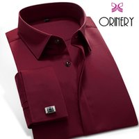 Wholesale French Cuff Clothing - Wholesale- ORINERY Hot Sale Spring Mens Dress Shirt Business French Cuff Shirt with Cufflinks Fashion Wedding Tuxedo Shirt Brand Clothing