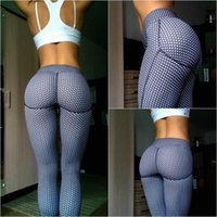 Wholesale Dots Tight - Hottest Sexy Shaping Hip Yoga Pants Women Fitness Tights Workout Gym Running Bottom Slim Low Waist Sports Leggings Training Clothing