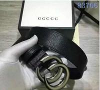 Wholesale G Belt For Women - Luxury 2017 brand men belts fashion genuine leather designer g belts for men Letter Double G buckle men women belts with white box