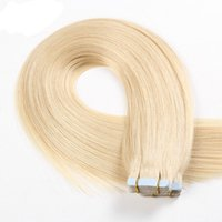 Wholesale Color Hair Dye Set - 100% Virgin Russian Human Hair 2.5g piece 40 pieces set Mink Hair can dyed #613 adhesive Skin Weft PU Tape Hair Extension