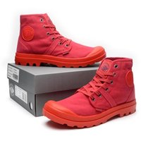 Wholesale Color Red Activities - hot 2017 Military boots PALLADIUM Men's and women's High Canvas boot Outdoor activity Locomotive boots Street tide boots size 35-45 mode 002