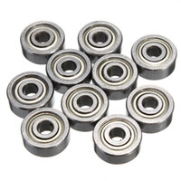 Wholesale 10Pcs ZZ Bearing ZZ x10x4mm Miniature Deep Groove Ball Bearing for d printer Shielded Silver Chrome Steel
