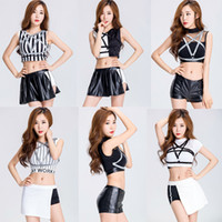 Wholesale Adult Pink Dresses - 2017 Night Club Stage Costume Sexy Auto Show Model Girls Cosplay DS Jazz Dancing Uniform Adult Dress Women's Cheerleading Costumes 1397