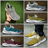 Wholesale Spotted Cotton Fabric - 2017 Sock Dart QS Safari Pack Running Shoes Mens Fragment Design Air Presto Stone Pattern Spots Shoes Training Sneakers US 5.5-10
