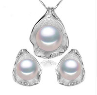 Wholesale imitation pearl jewelry sets for sale - Pearl Jewelry pearl pendant Jewelry Sets for Women Pearl Necklace Earring Wedding Jewelry Set Shell pendant design