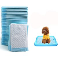 Wholesale Pet Cat Toilet - 100pcs lot Cheap Ultra Absorbent Pet Dog Cat Diaper Dogs Toilet Supplies Small Medium Large Dog Paper Diapers