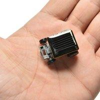 Wholesale Small Plastic Robot Toy - DIY Educational Solar toys Smallest Mini Solar Powered Robot Racing Car Toy 100pcs free via DHL