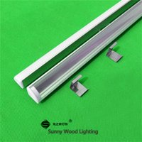 Cheap corner led profile - Wholesale-10pcs lot 20inch 0.5m led profile for 3528 5050 2835 5630 strip,corner aluminium profile with cover for led bar light AP-16*16