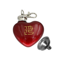 coração de bolso de aço venda por atacado-Aço Inoxidável Chaveiro Pocket Hip Flask E Funil 1 OZ Em Forma de Coração Garrafa de Água Fácil de Transportar 7 5jj C R
