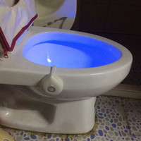 Wholesale plastic human body for sale - Group buy YKS011 Creative Design Home Toilet Night Light Human Body Induction Sensor Battery Operated Automatic Light Lamp Home Decoration