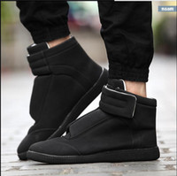 Wholesale Mens High Buckle Boots - spring 2017 New Luxury brand men Maison martin margiela boots shoes men sneakers high top MMM Shoes mens shoes