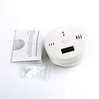 carbon monoxide alarm al por mayor-CO monóxido de carbono envenenamiento detector de alarma de humo de gas detector de alarma probador LCD caliente en todo el mundo