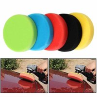 "Wholesale Car Wax Polish Kit - MAYITR 5pcs Set 6"" 6 inch Buffing Sponge Polishing Pad Flat Car Foam Buffing Pad Hand Tool Kit for Car Polisher Wax"