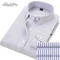 Wholesale Ds Shirt - Wholesale- Classical Men Formal Shirts Autumn Dress Long Sleeve Solid Twill Striped Casual Business Shirt Men Brand Clothing Camisa DS-111