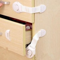 Wholesale 10 Baby Safety Plastic Lock Child Kids Cabinet Door Drawers Refrigerator Toilet Safety Locks Baby Protection montre femme