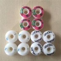 Wholesale Skateboard Wheels Brand - Wholesale- 2017 Mixed Brands Skateboard Wheels 51mm High-Density PU Skate Board Wheel Men Women Skateboarding Wheels Rodas