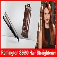 Wholesale keratin straightener - Keratin Therapy Hair Straightener Flat Iron Smart Sensor Styling S8590 1 Inch Ceramic Flat Iron Up to 230C hair styling Tools
