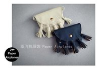 Wholesale Hot Messenger Purses - Wholesale- Hot Selling Kids PU Fringe Crossbody Small Bags Girls Cute Messenger Bags Handmade Bohemian Tassel Mini Bag Coin Purse