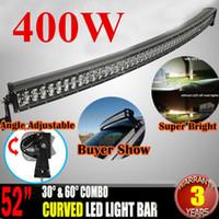 Wholesale Off Road Leds Bar - 400W 52 inch Curved 100 LEDs*(4W) Work Light Bar Spot Flood Beam LED Light Bar Driving Lamp Off-Road SUV 4WD 4x4