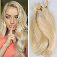 Wholesale Chinese Bulk Wholesale - Grade 8a brazilian straight hair 3pcs lot no weft human hair bulk for braid 613# blonde