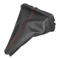 Nouveau PU Cuir Noir Auto Gear Shift Lever Gaiter Dust Cover Red Stitching pour VW / GOLF / BORA