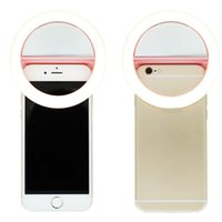 3Colors Clip-on Handy Selfie Ring Licht Lampe 36 LEDs Fill-in Licht 3 Modi für iPhone 7 6s 6 Plus Samsung Smartphones