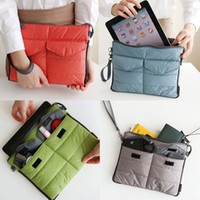 Wholesale Handle Bag Ipad - Wholesale- Organizer Sleeve Pouch Storage iPad Bag Travel Ipad Mini Soft With Handles HB88