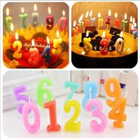 Wholesale Exotic Art - Lucky Arab Number Art Candle Kids Gift Mini Candles Birthday Wedding Festival Exotic Atmosphere Source Valentine' Day Gift