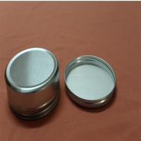 aluminum cup holder großhandel-Silber Aluminium Container 83 * 34mm Kerzenhalter Aluminium Dose 150ml Creme Dosen Runde Zinn Aluminium Creme Glas