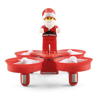 Wholesale helicopter remote control resale online - JJRC H67 Flying Santa Claus with Christmas Songs RC Helicopter Drone Christmas Toy Remote Control Aircraft For Kids Gift