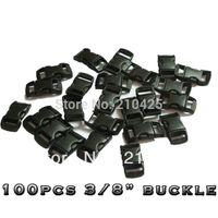 "Wholesale Paracord Bracelet Buckles Wholesale - Wholesale-100 Pcs Lot 3 8""(10mm) Plastic Buckles Contoured Curved for Paracord Bracelet webbing Free Shipping"