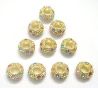 Wholesale 30pcs Gold Plated European Crystal Beads For DIY Bracelet Necklace Jewelry Gift C29