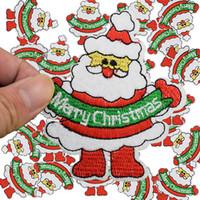 ingrosso padre di ferro-Patch fai da te Babbo Natale per abbigliamento ferro ricamato patch applique ferro sulle toppe accessori adesivi cucito distintivo