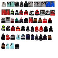 Wholesale Diamond Pom Beanies - Wholesale Diamond Beanie With pom Knitted Cap for Men Women Skullies Warm Beanies Unisex Accept Mix Order