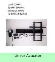 Wholesale tv lifts - free shipping 500mm stroke 32inch-42inch TV usage wireless tv lift linear actuator can used for cabinet and bed