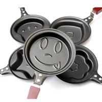 Wholesale Mini Pancakes Pan - 1 pcs Lovely Egg Frying Pancakes Kitchen Pan with Stick Housewares Mini Pot DIY 5 Types Free Shipping