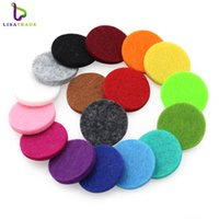 100pcs Many Colorful Round Essential Oils Diffuser Locket Pads Fit for 30mm Perfume Aroma Locket Replacement Pads NE598