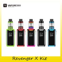 Wholesale x mini green - Authentic Vaporesso Revenger X Starter Kit 220W Dual 18650 Battery TC Box Mod For Original 5ml NRG Mini Tank 100% Genuine