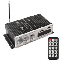 Wholesale Usb Powered Dvd - New Arrival Mini Car Power Amplifier USB SD DVD CD FM MP3 With Remote Controller CAU_106