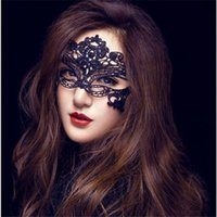 Wholesale Halloween Sexy Costume For Ladies - Fashion Sexy Lace Party Masks Women Ladies Girls Halloween Xmas Cosplay Costume Masquerade Dancing Valentine Half Face Mask