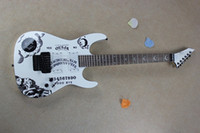 Wholesale Hammett Guitar - Free shipping Hot Guitar High-quality New white KH-2 Kirk Hammett Ouija white electric guitar