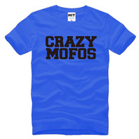 Wholesale One Direction Tops - 1D One Direction Harry Niall Crazy Mofos Letter Printed Men's T-Shirt T Shirt Men 2016 New O Neck Cotton Casual Top Tee