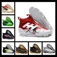 Wholesale Open Football - Champagne FG Soccer Shoes Predator Mania ACE 17+ Purecontrol oots Football Boots White Core Mens Football Shoes Soccer Cleats Size 36-45