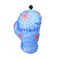 spider web gloves - Spider Web Design Boxing Glove FW Wood white blue red Cover Golf Club Driver Headcover
